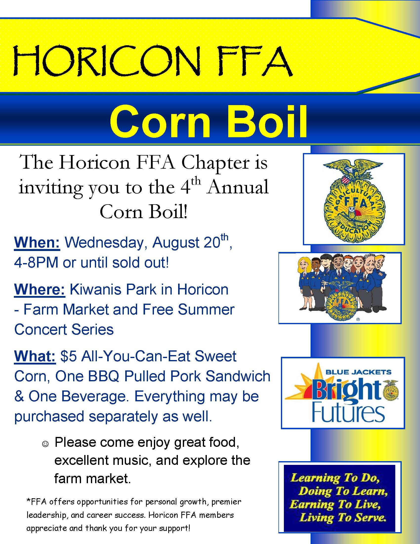 HORICON corn boil FLYER